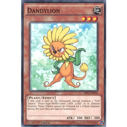 YuGiOh : SR01-EN018 1st Ed Dandylion Common Card - ( Emperor of Darkness ) by Deckboosters