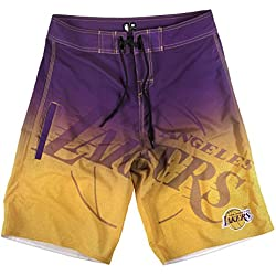 "Los Angeles Lakers NBA ""Gradient"" Men's Boardshorts Swim Trunks"