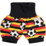 Lilakind Kurze Kinder-Hose Baby Shorts Buxe Sommerhose Fussball EM WM Gr. 74/80- Made in Germany