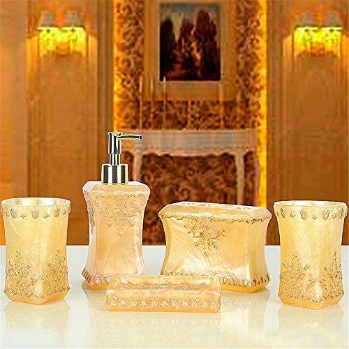 MIAORUI salle de bains kit / style européen cinq pièces / salle de bains laver la résine costume nuptial, creative gargarisme tasse /