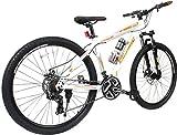 COSMIC TRIUM 27.5 INCH MTB BICYCLE 21 SPEED WHITE/ORANGE-PREMIUM EDITION TRIUM26WTOR Hybrid Cycle (White, Orange)