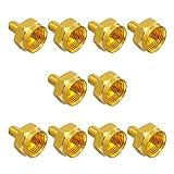 10x F-Abschlusswiderstand 75 Ohm F-Kupplung Sat Vergoldet breite Mutter HB-Digital