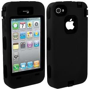 Avizar - Coque Protection Indestructible pour Apple iPhone 4 et 4S - Noir