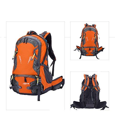 Wasserdichte Outdoor Sports Travel Rucksack Mountain Climbing Rucksack Rucksack Mit Regen Abdeckung Camping Wandern,DarkBlue Orange