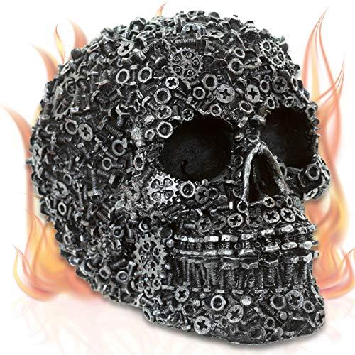 mtb more energy Deko Totenkopf ''Machine Head'' - Silber - Totenschädel Figur ()