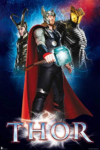 empireposter - Thor - Marvel Movie Trio - Größe (cm), ca. 61x91,5 - Poster, NEU -