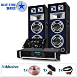 DJ PA Set Blue Star Series Beatmix 1200 Watt Anlage