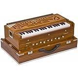 SG Musical Harmonium teak wood, folding, 2 reeds, A440, 42 keys, concert Quality