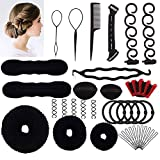 Halicer Accessori Per Capelli Pins Capelli,25 Tipi set di acconciature Hair Styling Tool, Mix Accessori Set Gioielli per Capelli Donne Ragazze per DIY