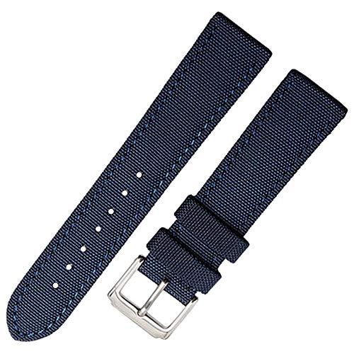 einwand Kalbslederarmband Leinwand Armband Gurt Männer Frauen blau ()
