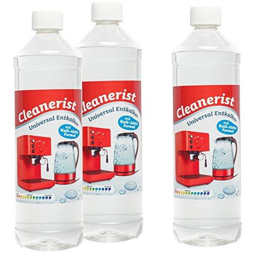 3 x 1 Liter (3,0 Liter) Cleanerist Kalk Ex (Flüssigentkalker) Entkalker, geeignet für Kaffee- und...