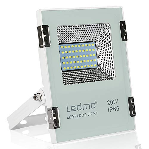 LEDMO Foco Led 20W Blanco Frío 1980LM Focos Exterior Led SMD2835 IP65...