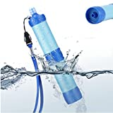 #9: Portable Outdoor Camping Hiking Emergency Purifier Wild Drinking Survival Water Filter (Blue)