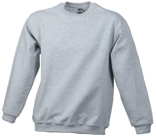 James & Nicholson Herren Sweatshirt Grau (greyheather)