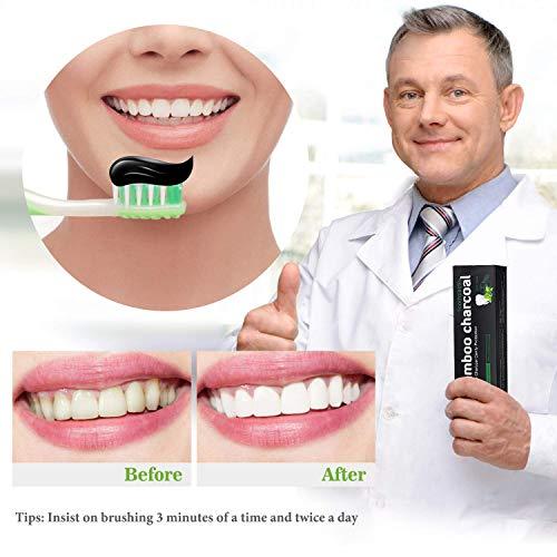 Zoom IMG-2 dentifricio carbone attivo sbiancante per