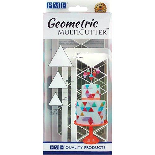 PME Geometric multicutters für Kuchen Design–Triangle–klein, mittel und groß, Set von 3