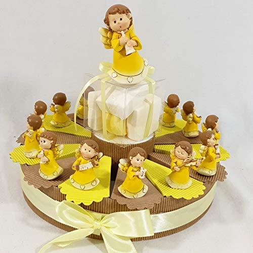 Torta BOMBONIERA ANGIOLETTI Musicisti Assortiti Confetti Cioccolato Ideale per bomboniere Battesimo, Comunione Bimbo