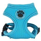 LFEU Hund Katze Geschirr Nylon Mesh Weste für Haustier Hundehalsband