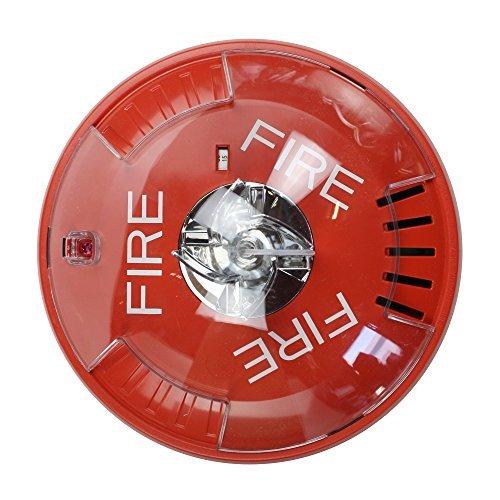 Fire Alarm Horn Strobe (Wheelock Hsrc Hsc Series Red Ceiling Mount Fire Alarm Signal Horn Strobe by Wheelock)