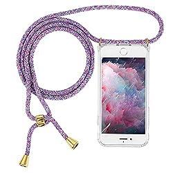 Imikoko Hülle für iPhone 7/8 Necklace Hülle mit Kordel zum Umhängen Silikon Handy Schutzhülle mit Band - Schnur mit Case zum umhängen