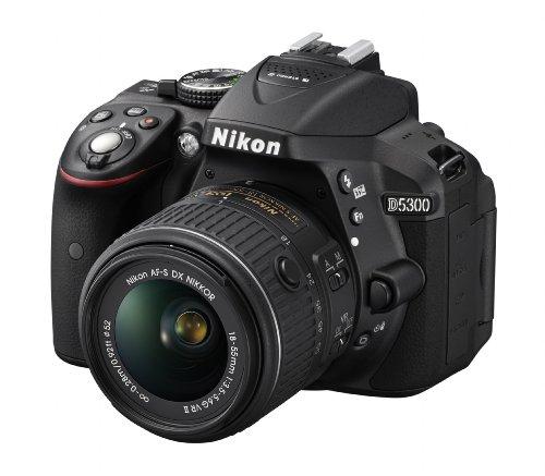 "Nikon D5300 Fotocamera Reflex Digitale con Obbietivo Nikkor AF-P 18/55VR, 24.1 Megapixel, LCD HD Regolabile da 3"", Nero"