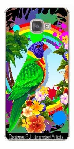 TPU Transparent SilikonHülle für Samsung Galaxy A9 (SM-A9000) - Allfarblori Farbe Splats by BluedarkArt