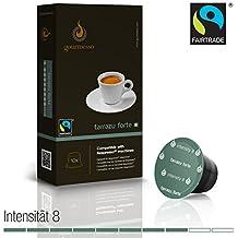 Gourmesso - cápsulas de café para cafetera Nespresso ® - 10 cápsulas de café compatibles (0,26 EUR/Cápsula) Tarrazu Forte (Intensidad 8)