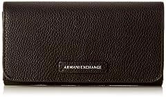 Idea Regalo - ARMANI EXCHANGE Wallet With Stud - Portafogli Donna, Nero (Black), 10.5x3x19 cm (B x H T)