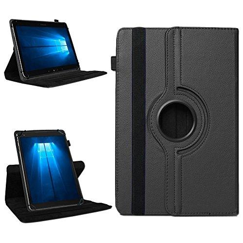 NAmobile Tablet 360° Drehbar Hülle für Odys Wintab Ares 9 Tasche Schutzhülle Case Cover, Farben:Schwarz