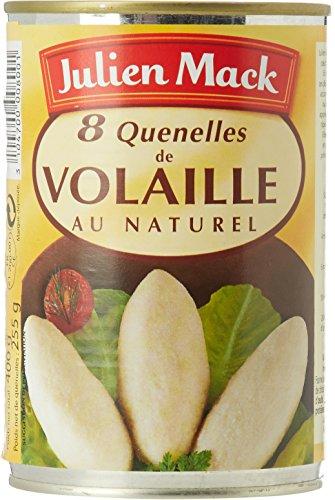 Julien Mack 8 Quenelles de Volaille au Naturel 255g égoutté (400g total)