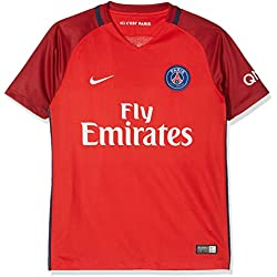 Nike Paris Saint-Germain 2016/2017 Maillot Extérieur Mixte Enfant, Rouge, FR : S (Taille Fabricant : S-128/137 cm)