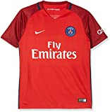 Nike PSG YTH SS AW Stadium JSY - Kurzärmeln T-Shirt Paris Saint Germain Rot - L - Unisex