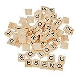 Crystalbella Toy Scrabble-Fliesen aus Holz, Buchstaben und Zahlen, zum Basteln, 100 Stück