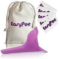 EasyPee Dispositivo Urinario Femenino - Orinal de Viaje Portátil para Orinar de Pie - Kit Embudo Micción Mujer WC