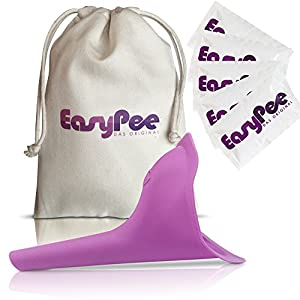 EasyPee Frauenurinal für unterwegs – Stehpinkler inkl. Beutel – Frauen pinkeln im Stehen – Pinkelhilfe