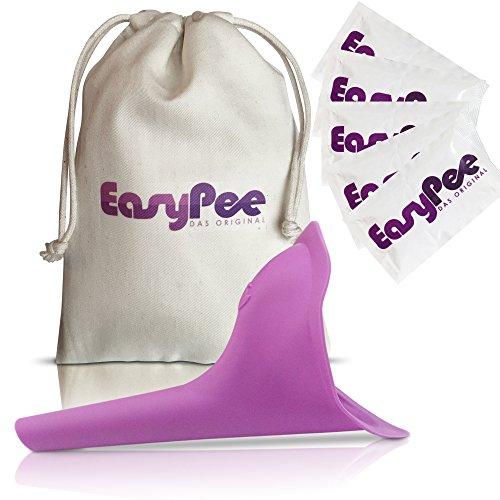 EasyPee Frauenurinal für unterwegs - Stehpinkler inkl. Beutel - Frauen pinkeln im Stehen - Pinkelhilfe