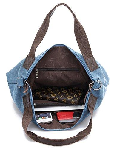 Keshi Leinwand neuer Stil Damen Handtaschen, Hobo-Bags, Schultertaschen, Beutel, Beuteltaschen, Trend-Bags, Velours, Veloursleder, Wildleder, Tasche Blau