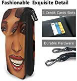 gxianyuyib Whitney Houston téléphone sac à main Whitney Houston bricolage impression PU cuir téléphone portable sacs à bandoulière porte-cartes porte-monnaie portefeuille 4x12.5x19.2 cm
