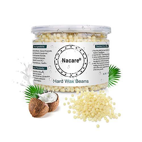 Mini-wachs-streifen (Nacare Hartwachs Bohnen Non-Strip Allzweckwachs Schmerzfreie sanfte Haarentfernung für Männer und Frauen mit Kokosöl 300G)