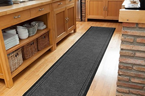 WDC ONLINE eXtreme® Concorde Hardwearing made to measure Grey Hallway Entrance Runner - SOLD BY THE FOOT - QUANTITY 1 = 1 FOOT