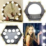 Hollywood Style LED Schminkspiegel Lichter Kit, 10 Dimmbare Glühbirnen Und USB-Lade, Beleuchtungskörper Streifen Für Make-Up Schminktisch Set In Umkleide (Spiegel Nicht Im Lieferumfang Enthalten)