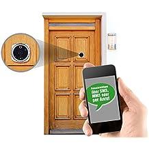 Somikon - Mirilla de puerta con cámara digital (con SMS, MMS y función de llamada)