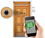 Somikon Türspion Handy: Digitale Türspion-HD-Kamera mit SIM-Karten-Steckplatz & Anruf-Funktion (Türspion Kamera Handy)
