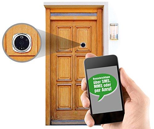 Preisvergleich Produktbild Somikon Türspion Handy: Digitale Türspion-HD-Kamera mit SIM-Karten-Steckplatz & Anruf-Funktion (Türspion Kamera Handy)