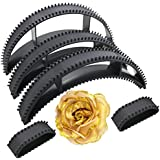 Kabello Combo Of Hair Bumpits And Hair Accessories Rose Clip For Hair Puff High Hair Volumizer Black And Golden...