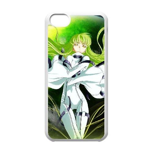 Code Geass C.C coque iPhone 5C Housse Blanc téléphone portable couverture de cas coque EBDXJKNBO17528