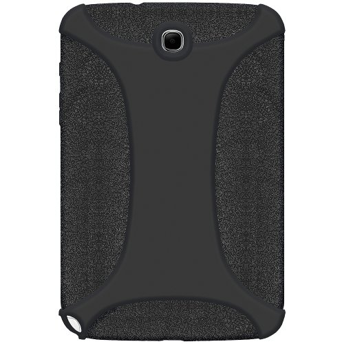Amzer Exklusive Silikonhülle für Samsung Galaxy Note (20.32 cm) GT, N5100/N5110), Schwarz