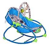 #4: BabyBird Newborn to Toddler Rocker Musical Rocking Chair (Blue)