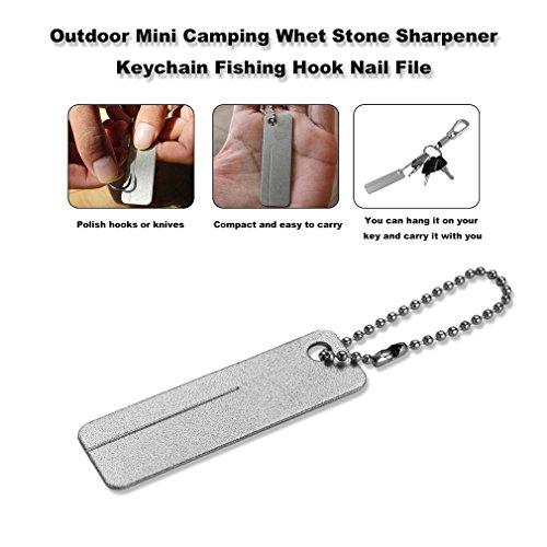 Sungpunet Camping Schleifstein Schleifstein Mini Schlüsselanhänger Angelhaken Nagelfeile Outdoor