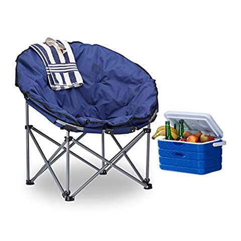 Table Ronde Legere - Relaxdays Chaise de camping Lune Moonchair 120